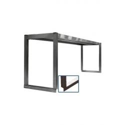 Étagère simple inox sur colonnettes (pour table INOX professionnelle) - 1 Niveau