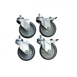 Roulettes pour table INOX professionnelle
