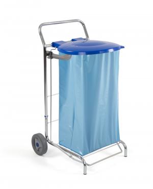 Chariot porte sac à déchets fixe DUST - 120L - Avec couvercle et pédale