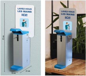 Distributeur de gel hydroalcoolique manuel
