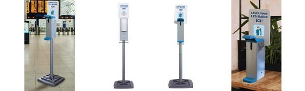 Distributeurs de gel hydroalcoolique pour espaces publics