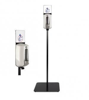 Distributeur de gel hydroalcoolique manuel - Sur pied