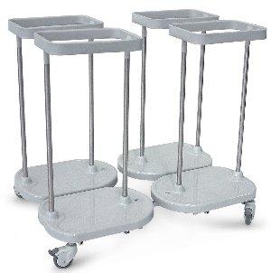 Chariot à linge porte-sacs 4 sacs en carré ''Huevo'' 4C
