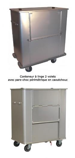 Chariot conteneur aluminium transport sacs linge d chets for Prix d un conteneur vide