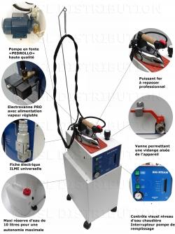 Générateur vapeur SEMI-AUTOMATIQUE chaudière 5 litres