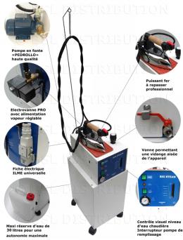 Générateur de vapeur professionnel SEMI-AUTOMATIQUE chaudière 5 litres