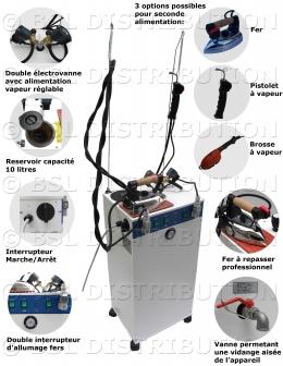 Générateur de vapeur professionnel AUTOMATIQUE + Pompe + 2 Electrovannes.