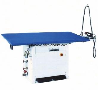 Table à repasser professionnelle RECTANGULAIRE BOLZANO, Aspirante, Vaporisante, Chauffante Avec générateur vapeur intégré