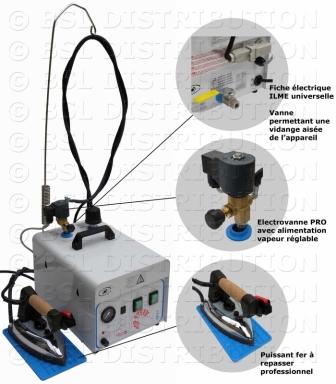 Centrale vapeur professionnelle, chaudière INOX 5 Litres