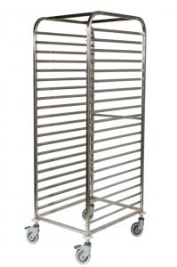 Chariot échelle inox pour boulangerie et pâtisserie 600x800 20 Niveaux