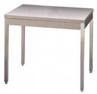 Table INOX piétements carrés avec ou sans dosseret (largeur 700mm)