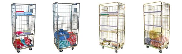 Chariot double fonction : Collecte et distribution du linge