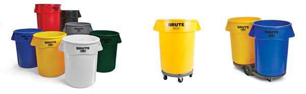 Conteneur à déchets ''Brute'' rond