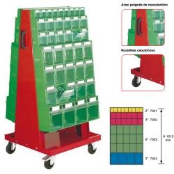 Chariot pour bloc-tiroirs basculants