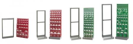 Supports pour blocs-tiroirs basculants en plastique (mural ou sur base)