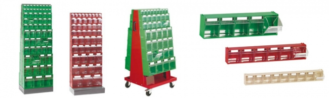 Chariots, supports et armoires pour blocs-tiroirs basculants