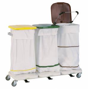 Chariot de collecte du linge sale - 3 sacs