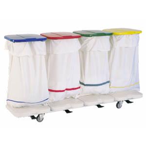 Chariot de collecte du linge sale - 4 sacs