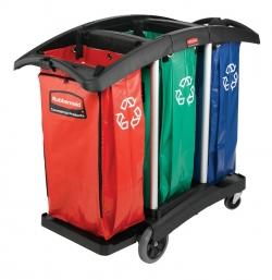 Chariot de ménage / nettoyage professionnel - triple capacité