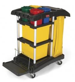 Chariot de ménage / nettoyage professionnel - pour microfibre