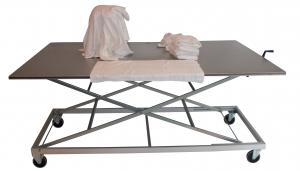 Table ergonomique inox à hauteur réglable