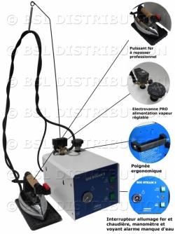 Centrale de repassage professionnelle - Générateur vapeur 3L