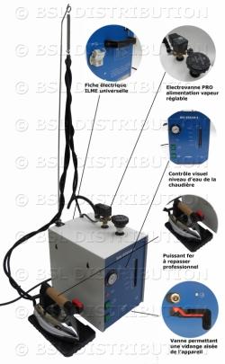 Centrale de repassage professionnelle - Générateur vapeur 5L