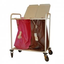 Chariot porte-sacs à linge sale - 2 sacs