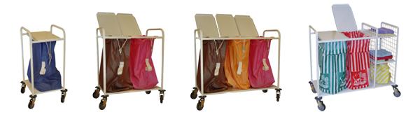 Porte-sacs ACE, en acier laqué