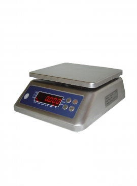 Balance de pesage inox, étanche, portée 3 à 30kg