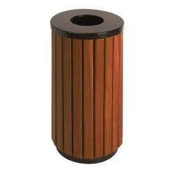 Poubelle d'extérieur aspect bois 40L