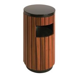 Poubelle d'extérieur aspect bois  33L