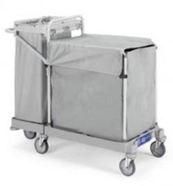 Chariot de collecte du linge pour blanchisserie 200L + 120L