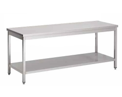 Table INOX professionnelle démontable - Largeur 600mm