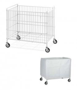 Chariot de collecte du linge pour blanchisserie 150L