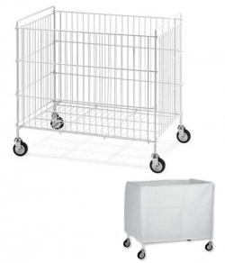 Chariot de collecte du linge pour blanchisserie 340L
