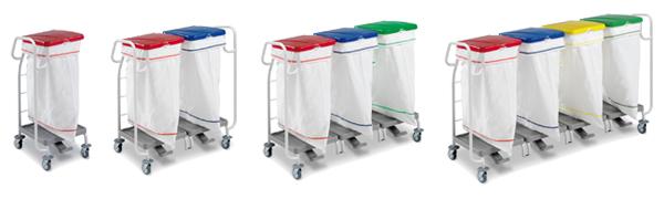 Porte-sacs STAUB, en plastique ABS et Rilsan - Avec poignée de guidage