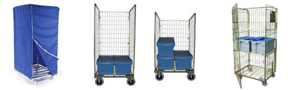 Chariot Roll pour caisses Euronorm 600x400 ou 600x800mm