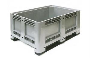 Caisse palette plastique basse 330L - 2 semelles