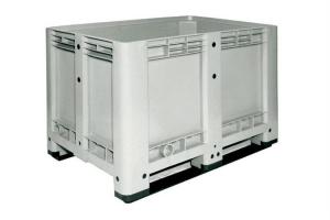 Caisse palette plastique haute 470L - 2 semelles