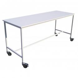 Table bois mélaminé professionnelle - 1 plateau - Sur roues