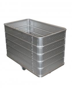 Bac à linge fond fixe en aluminium - De 305 à 620L