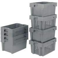 Bac plastique empilable / emboitable Euronorm 400x300mm