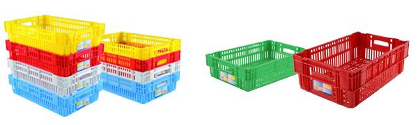 Bac plastique Euronorm 600x400mm COULEUR - Gerbable et emboitable