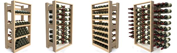 Casiers bouteilles de vin professionnels - Présentoirs en bois