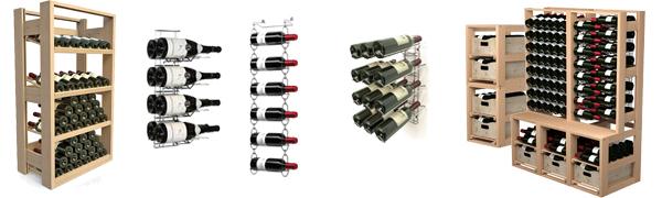Casiers et présentoirs à vin professionnels