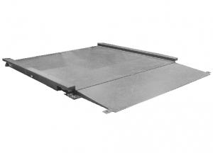 Plateforme de pesage du linge professionnelle INOX avec 1 rampe incluse, portée 150 à 3000kg. ( PLP Inox )