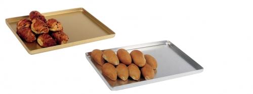 Plat de présentation pâtisseries / viennoiseries - Gamme ALUMINIUM