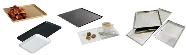 Plat présentation pâtisseries / viennoiseries pour vitrine