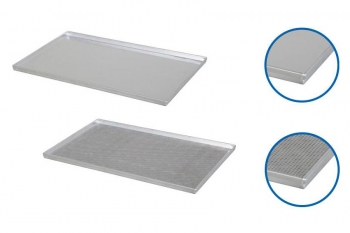 Plaque de cuisson aluminium GN1/1 - 4 bords droits 90°